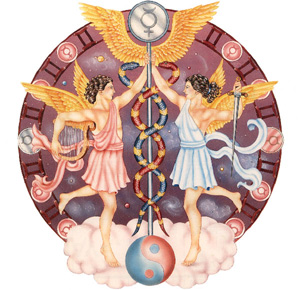 Astrological Illustration of Gemini