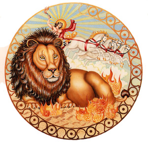 Astrological Illustration of Leo