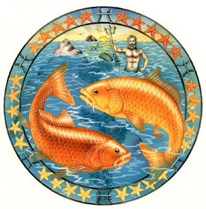 Astrological Illustration of Pisces